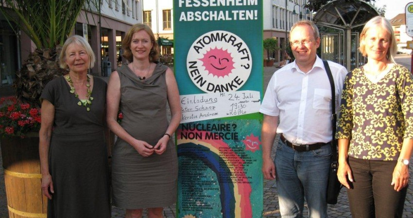 Kerstin Andreae, Spitzenkandidatin für Baden-Württemberg und Peter Schanz, unser Bundestagskandidat für den Wahlkreis 288