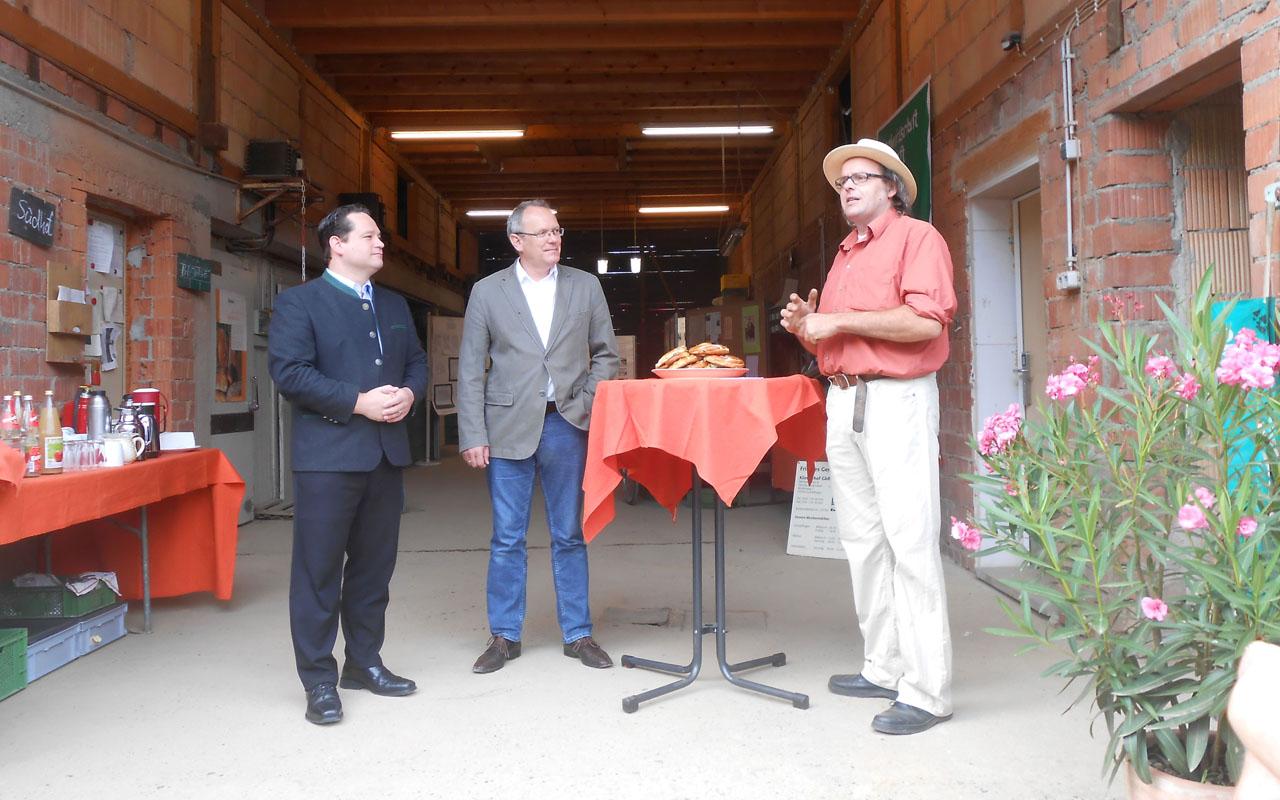 Alexander Bonde und Peter Schanz in Gundelfingen