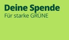 Deine Spende für starke Grüne