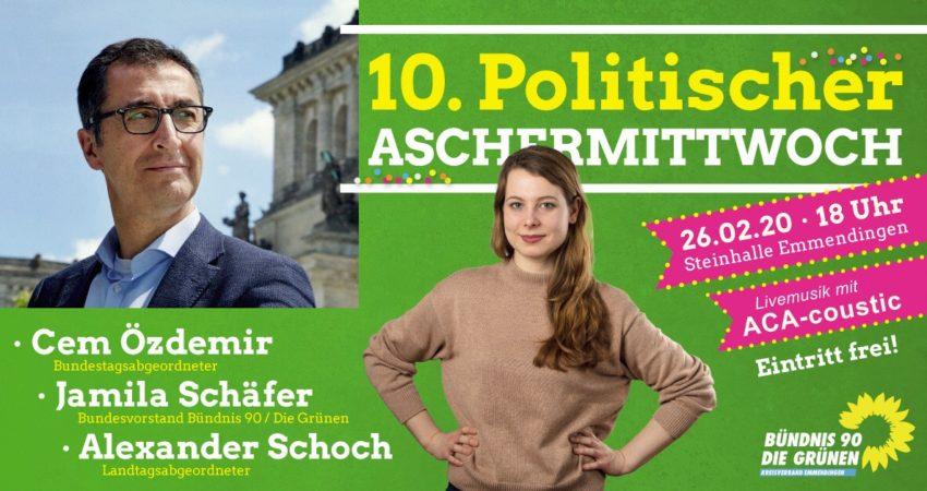 10. Politischer Aschermittwoch in Emmendingen mit Cem Özdemir u.a.